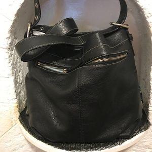 Coach Bags - COACH black pebble leather handbag